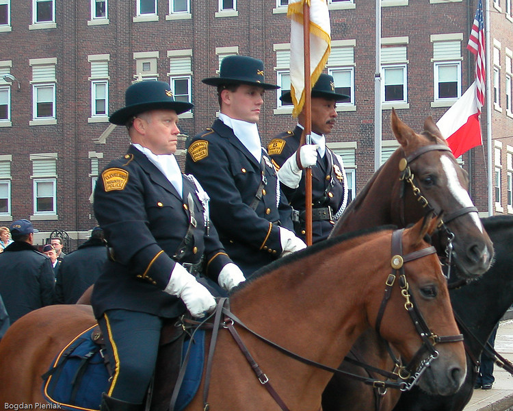 Cleveland Police Mounted Honor Guard