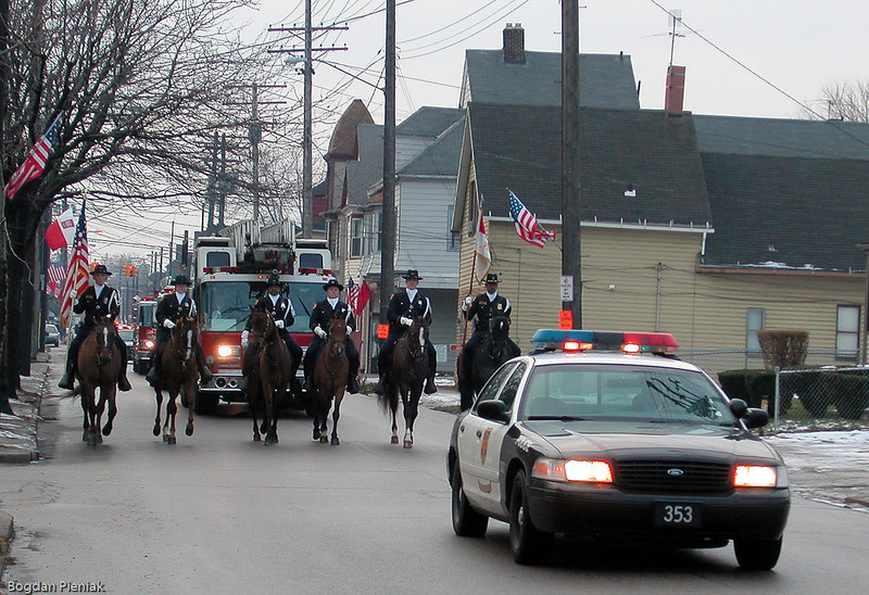 Funeral Procession down E. 65th St.