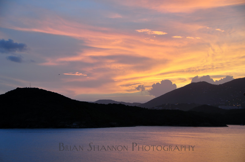 Sunset over St. Thomas, USVI