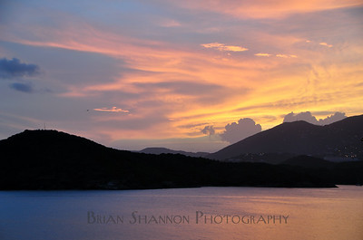 Sunset over St. Thomas, USVI