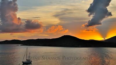 Funnel cloud sunset