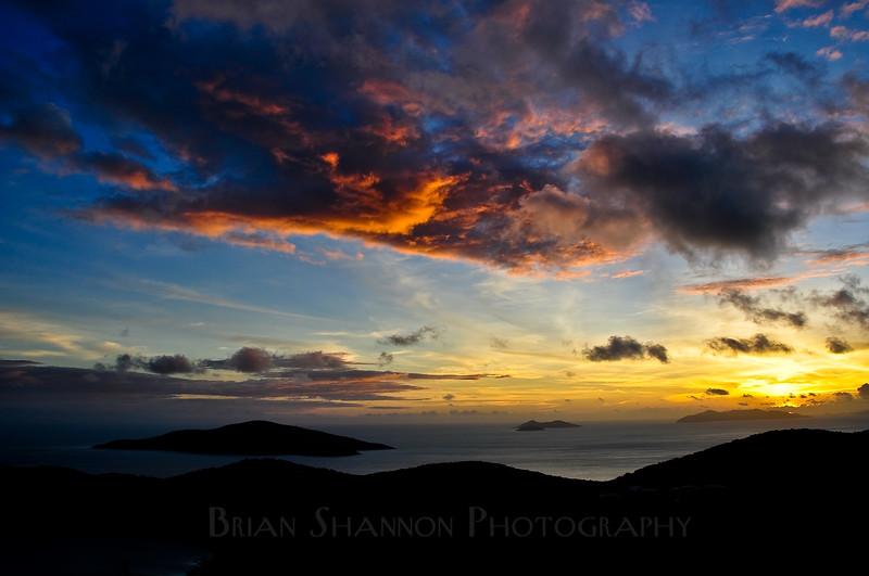 Sunrise over St. Thomas, USVI