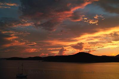 Hassel Island sunset, St. Thomas