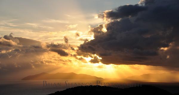 Sun rays over Hans Lollick