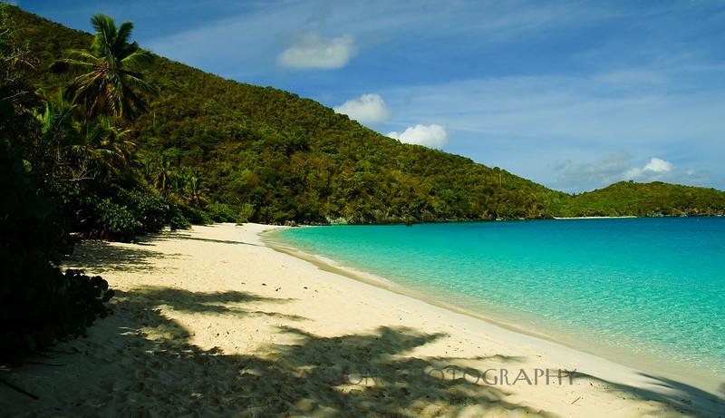 Relaxing Trunk bay beach, St. John, USVI