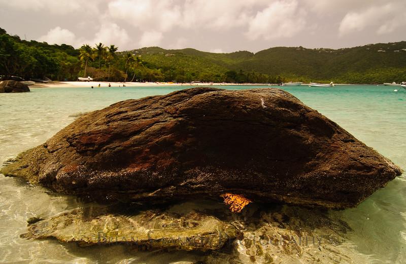 Turtle Rock at Magens bay beach, St. Thomas