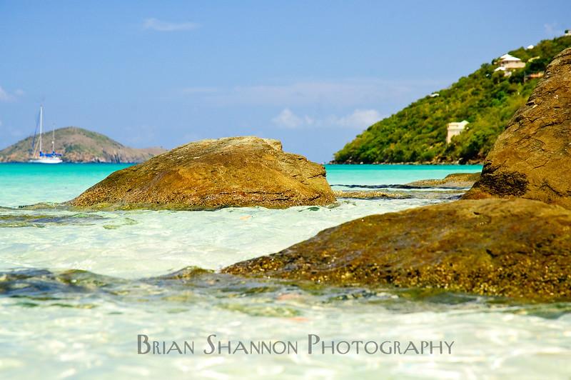 Rocks on the edge of the beach