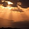 Early morning sun rays over St. John, USVI