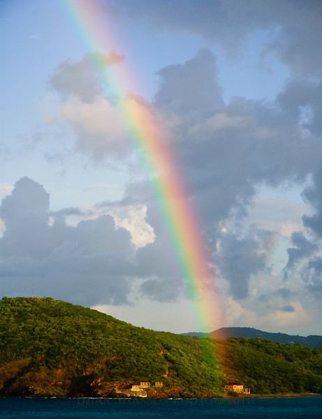 Rainbow over Hassel Island, St. Thomas, USVI