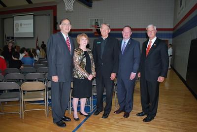 Senator John Boozman_Vernell Bowen_Msgr  David LeSieur_Mayor Greg Hines_Congressman Steve Womack2