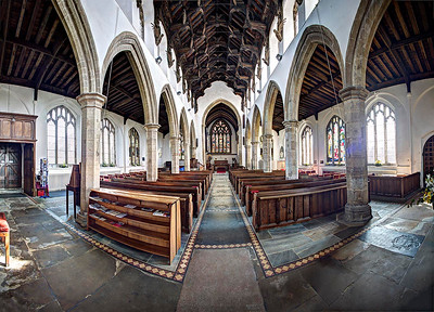 St Wendreda's Church nave and angel roof.