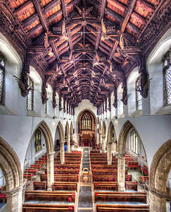 St Wendreda's Angel Roof viewed from the ringing chamber.