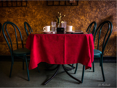 Red Tablecloth by Glo MacDonald