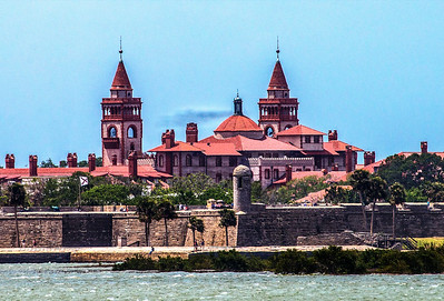 St Augustine Fort & Ponce Hotel at Flagler College by Ted Pappas