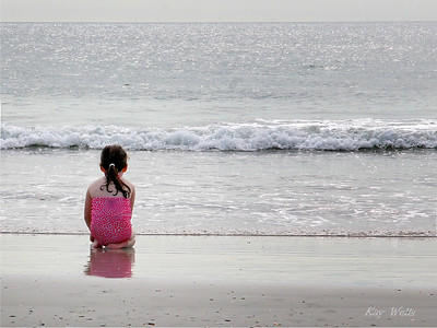 Little Girl Big Ocean by Kay Wells