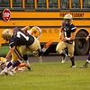 St B's Evan Benham jumps with the ball