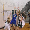 Peyton Bucko puts up a shot from the paint