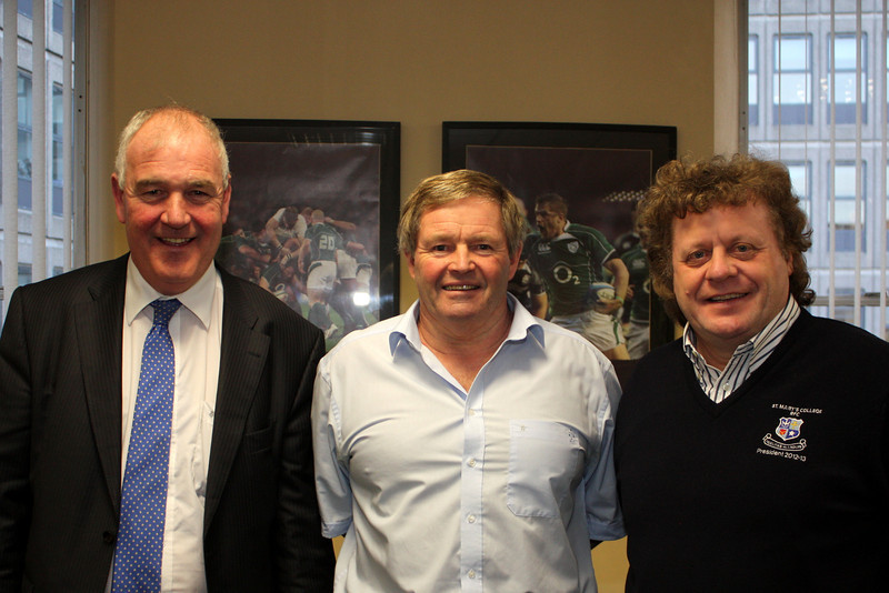 Finian O'Driscoll (President - Cork Constitution FC), Gordon Black (IRFU) and Michael Fanagan