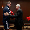 Sir Ian McGeechan presents Jonathan Sexton with his jersey 21/6/2013