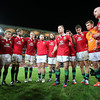 Brian O'Driscoll speaks to the team after the game 22/6/2013