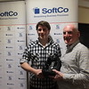 J5 Player of the Season winner Christopher Kane being presented his award by Kevin Conboy