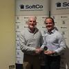 Kevin Conboy presents D.P Smyth J5 Blitz medal to Ryan Barnes