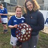 Team captain Grainne Egan and stand-in captain Emma Kiernan