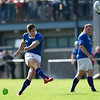 Sean Kearns of St Marys College kicks a penalty<br /> <br /> St. Marys College RFC V Cork Constitution FC, Ulster Bank League Division 1A, Templeville Road, Dublin  <br /> <br /> Mandatory Credit ©Tom Beary