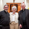 L-R: Fr. Matt Mellow, Dr. Linda Rooney, Fr. John O'Malley.