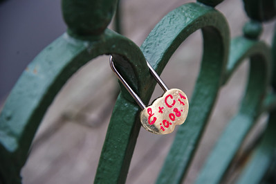 I kept seeing all these locks attached to bridges all over St. Petersburg and finally asked our guide. The lock is placed there by a newly wed couple.  They then throw the key into the water.  Their marriage is locked together and the key to unlock their marriage cannot be retrieved.