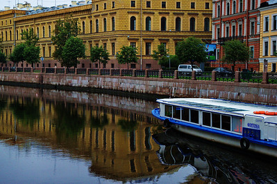 St. Petersburg has many canals and tour boats operate on all of them.