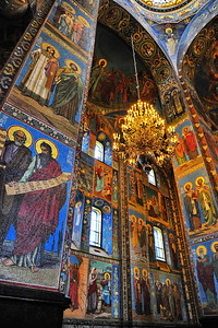 Interior:  Church of the Savior on the Spilled Blood  Wall mosaics