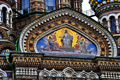 Church of the Savior on the Spilled Blood  Icon on the exterior