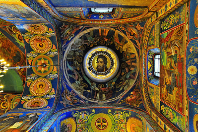 Interior:  Church of the Savior on the Spilled Blood  Dome ceiling
