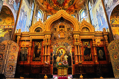 Interior:  Church of the Savior on the Spilled Blood  Entrance to altar