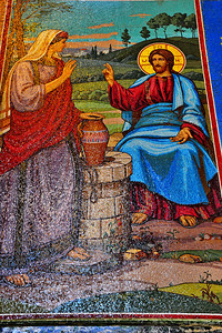 Interior:  Church of the Savior on the Spilled Blood  Jesus and the woman at the well