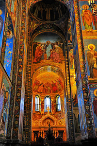 Interior:  Church of the Savior on the Spilled Blood  Back wall