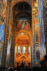 Interior:  Church of the Savior on the Spilled Blood  Rear wall