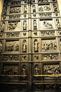 Huge bronze entrance door St. Isaac's Cathedral