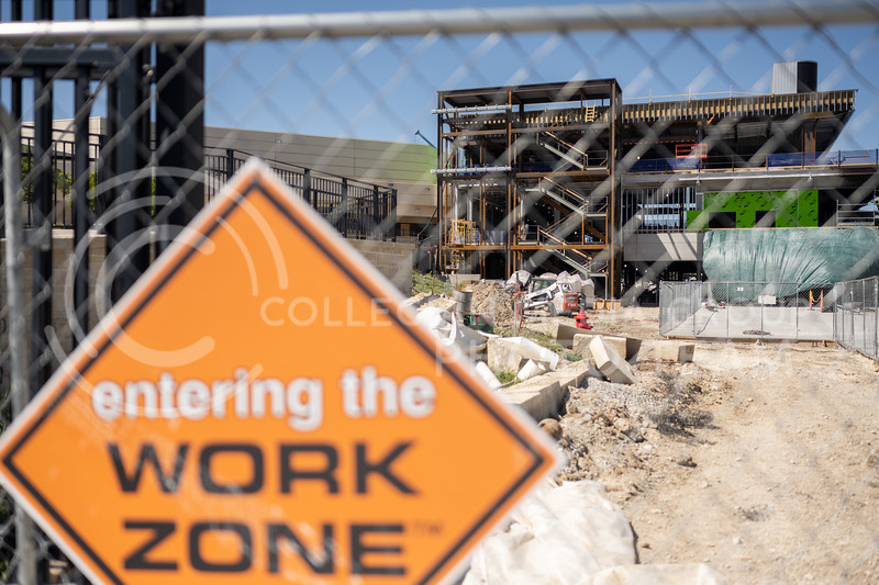Ongoing construction located at Bill Snyder Family Stadium. September 3, 2020. (Dylan Connell | Collegian Media Group)