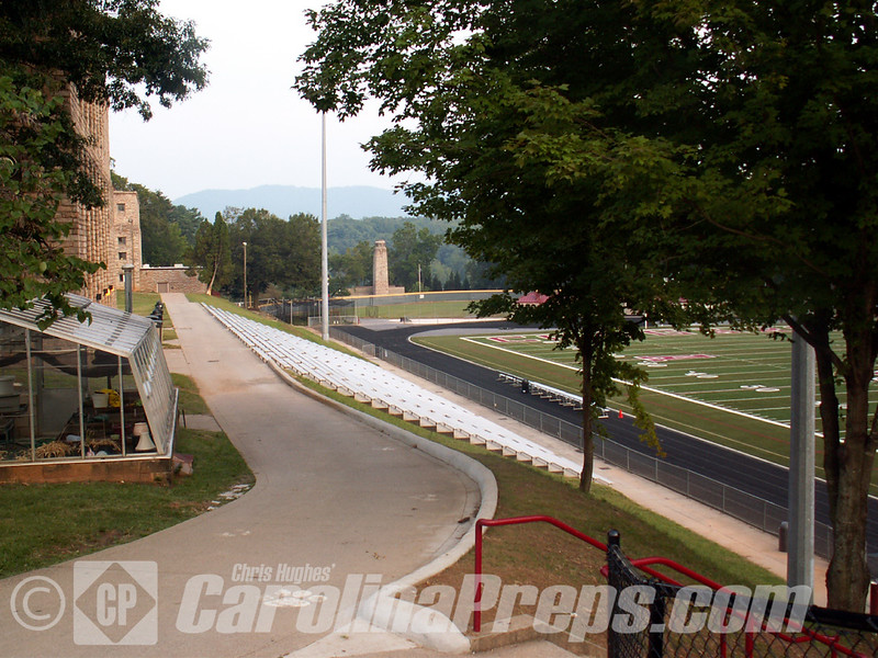 Asheville Memorial Stadium at Asheville High School in Asheville, N.C. Home of the Cougars.<br /> <br /> Photo Credit: Chris Hughes 8/31/2008