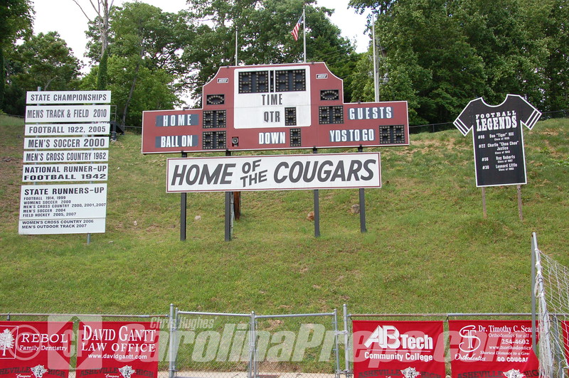 Asheville Memorial Stadium at Asheville High School in Asheville, N.C.  Home of the Cougars.<br /> <br /> Photo Credit: Chris Hughes 5/31/2014