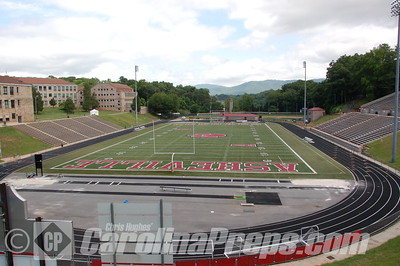 Asheville Memorial Stadium at Asheville High School in Asheville, N.C.  Home of the Cougars.  Photo Credit: Chris Hughes 5/31/2014