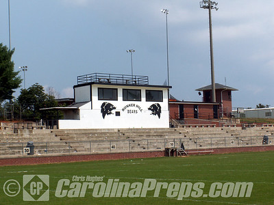 Bunker Hill Stadium, Home of the Bunker Hill Bears, Claremont, NC.  Photo Credit: Chris Hughes 8/31/2008