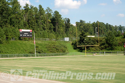 Cedar Ridge High School Stadium, Home of the Red Wolves.  Hillsborough, NC.  Photo Credit: Chris Hughes 7/30/2010