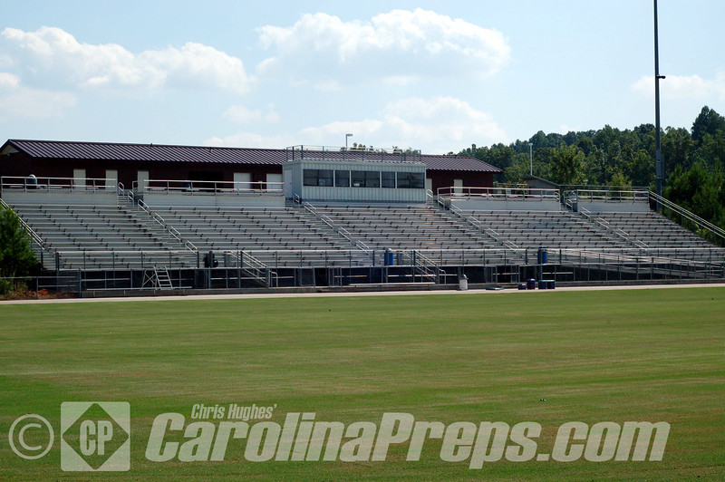 Cedar Ridge High School Stadium, Home of the Red Wolves.  Hillsborough, NC.<br /> <br /> Photo Credit: Chris Hughes 7/30/2010