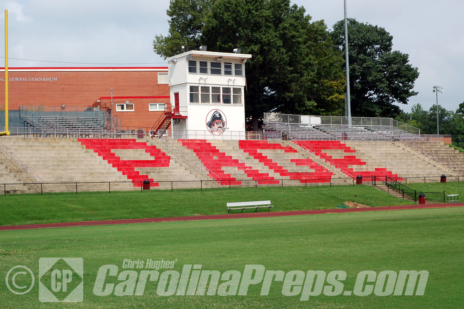 Marion Kirby Stadium at Walter Hines Page High School in Greensboro, N.C.  Home of the Page Pirates.<br /> <br /> Photo Credit: Chris Hughes 7/27/2010