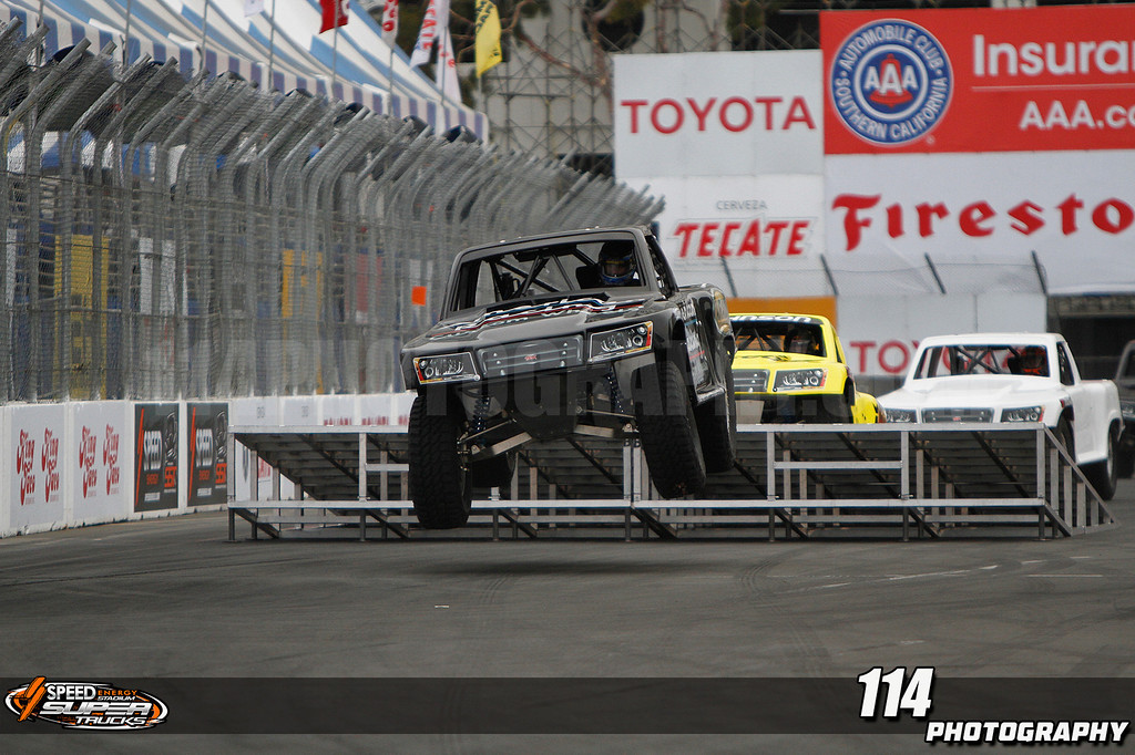 Morning practice for round two of Robby Gordon's Stadium Super Truck Series at the 39th Annual Toyota Grand Prix of Long Beach in Long Beach, California on April 21, 2013.Chris Anderson/114photography