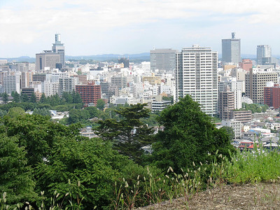 Sendai - view from Sendai Castle