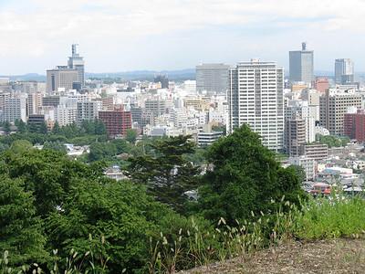 Sendai - view from Sendai Castle